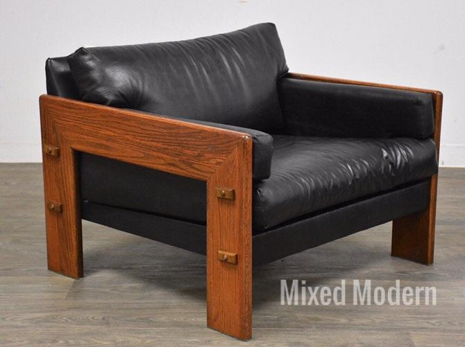 Percival Lafer Style Black Lounge Chair by mixedmodern1