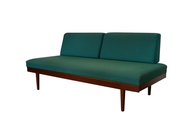 Norwegian Modern Teak Daybed Sofa Pull Out Tables Edvard Kindt Larsen for Gustav Bahus by Marykaysfurniture