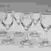 Rose Pattern Etched Cordial Glasses