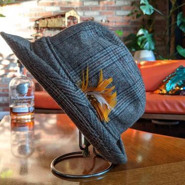 Vintage Borsalino Plaid Trilby Fedora Union Made Hat by BeesKneesVintageDC