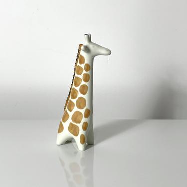 Taisto Kaasinen Arabia Finland Ceramic Giraffe Sculpture 1960s by 20cModern