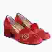 Gucci Red Suede Mules