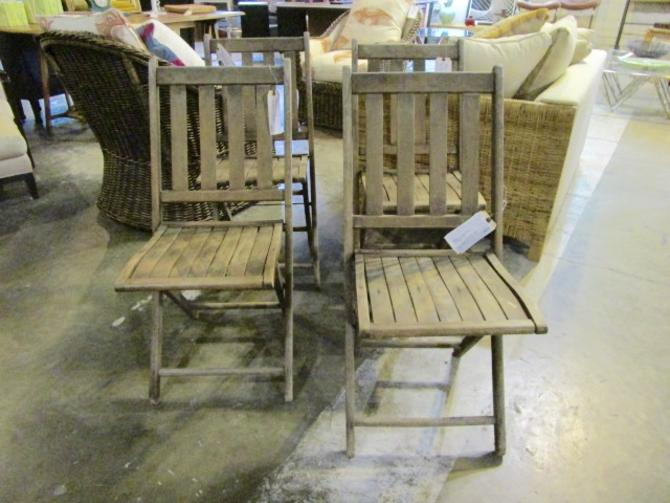 SET OF FOUR VINTAGE FOLDING CHAIRS PRICED SEPARATELY