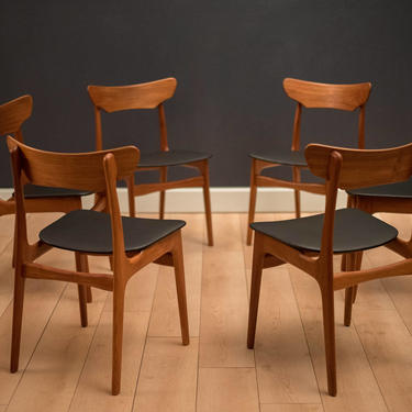 Danish Set of Schionning and Elgaard Teak Dining Chairs by MidcenturyMaddist