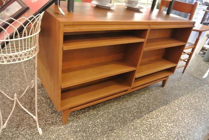 Reverse of MCM style two-sided buffet with shelves on back. $695