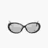 CHRISTIAN DIOR 90s Black Snakeskin Embossed Sunglasses