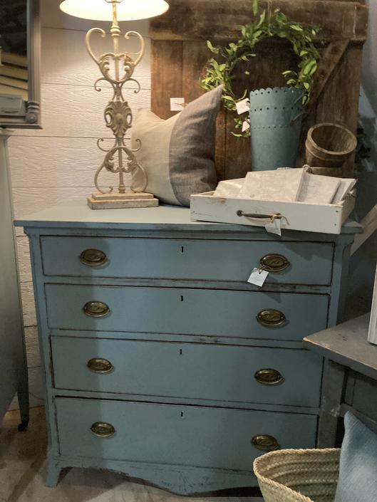 Turquoise Chest of Drawers