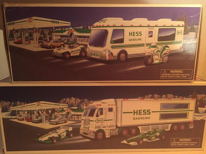 sale ! Hess trucks in original boxes toy truck and race cars recreation van motorcycle dune buggy cars childrens vintage rare by AntiqueApartment