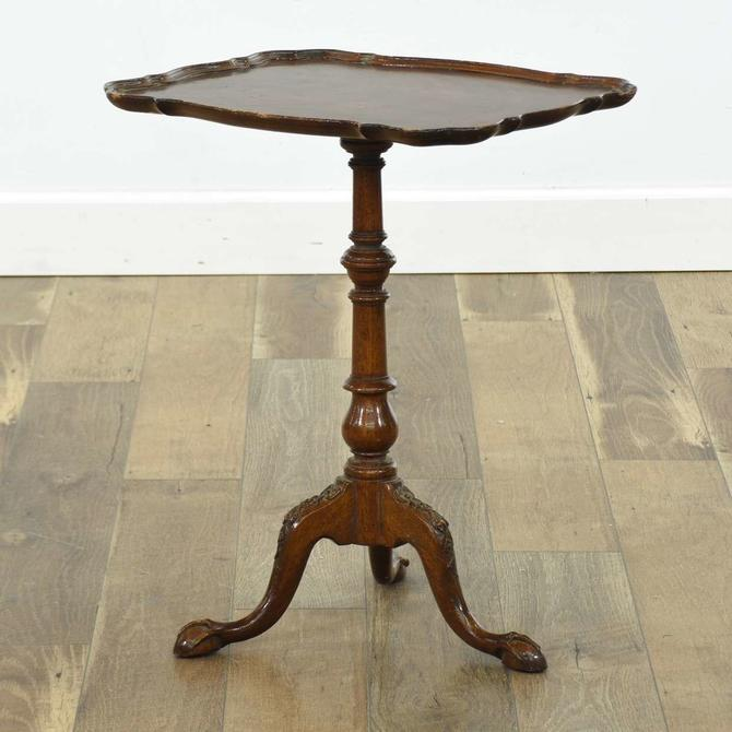 Chippendale Tripod Pie Crust End Table