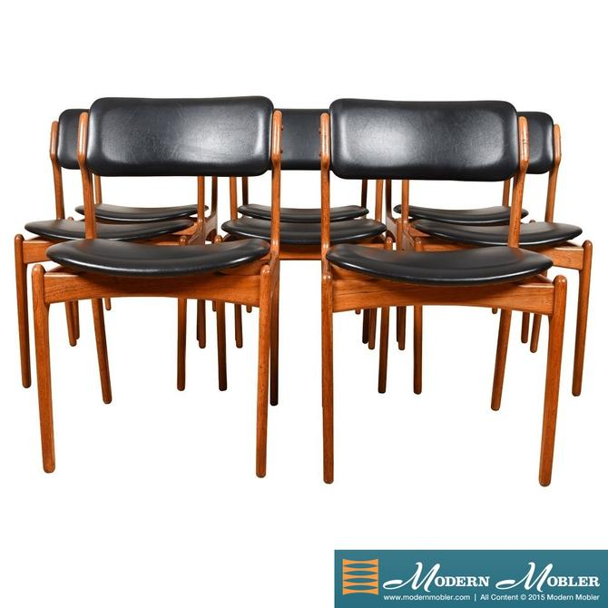 Set of 8 Erik Buch Danish Modern Teak Dining Chairs