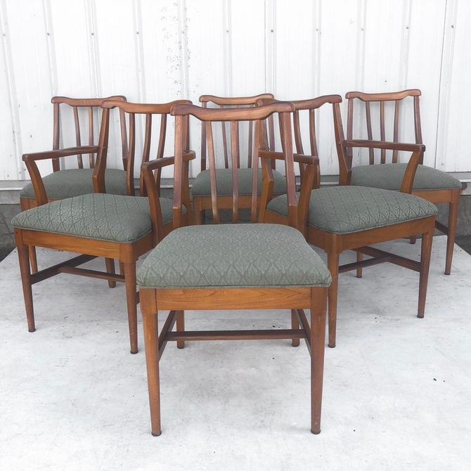 Set of Mid-Century Modern Dining Chairs- Set of Six by secondhandstory