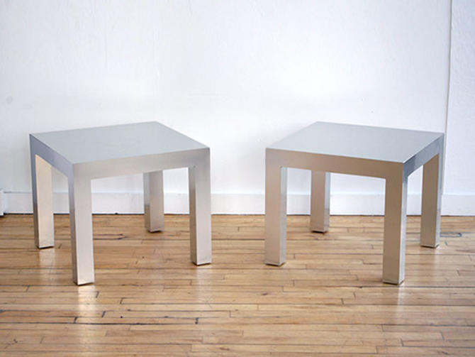 Pair Milo Baughman Side Tables