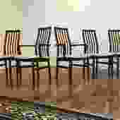SVA Mobler Danish Dining Chairs, Set of 5