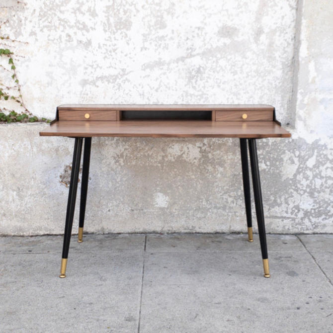 Gold Black Walnut Desk