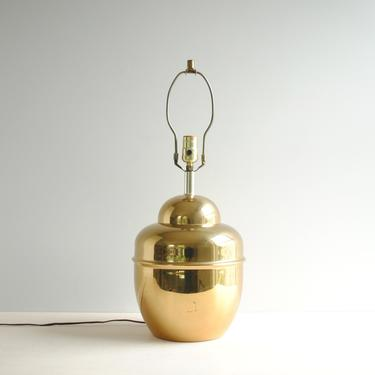 Vintage Brass Table Lamp, Gold Lamp by LittleDogVintage