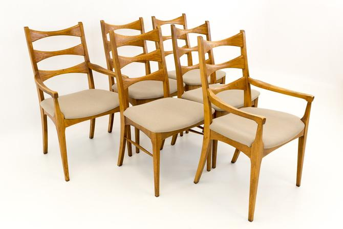 Lane Rhythm Mid Century Ladderback Dining Chairs - Set of 6 - mcm by ModernHill