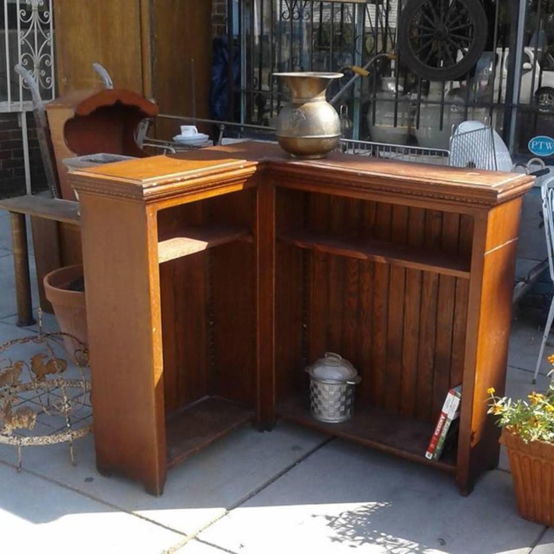 Arts Craft Hand Made Corner Book Case From Bentley 39 S Vintage Furniture Attic