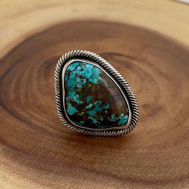 TWISTED UP Chimney Butte Sterling Silver & Turquoise Ring   Native American Navajo Style Jewelry   Southwestern,    Size 6 1/4 by lovestreetsf
