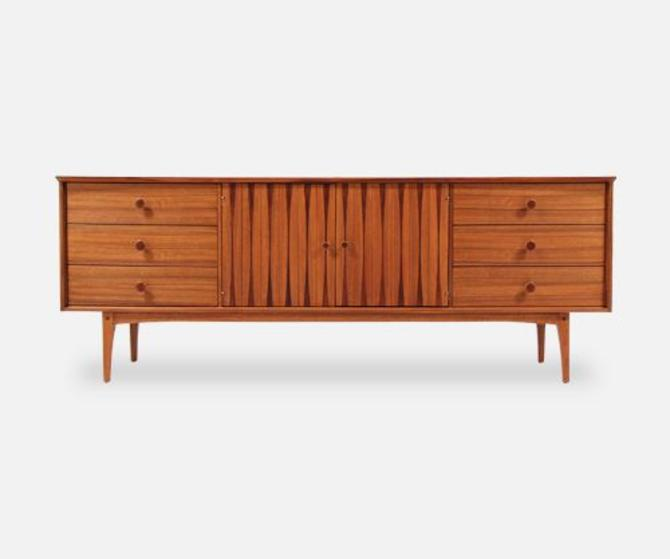 Mid-Century Inlaid Rosewood-Sculpted-Dresser-by-Lane