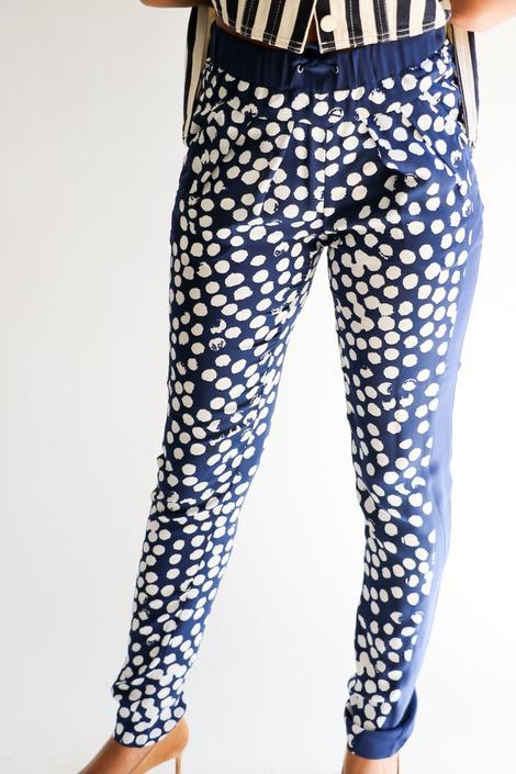 Rebecca Minkoff Printed Silk Pants, Size XS