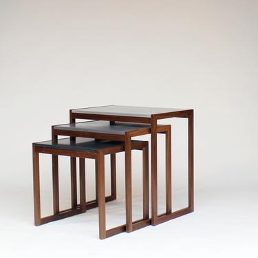Elton Gray Modern Concrete Nesting Tables by CrumpandKwash