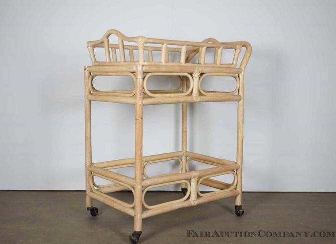 Tiki style Bamboo Tea Cart / Bar