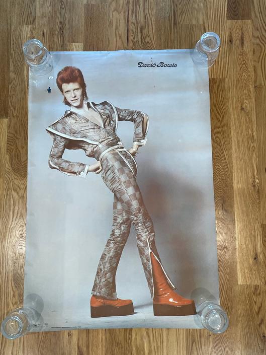 RARE original 1973 David Bowie poster by RareCoVintage