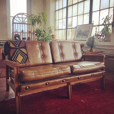 leather vintage sofa.