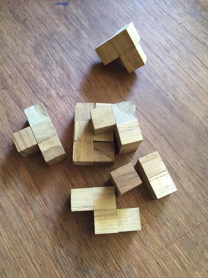 Square Wood Puzzle By Brainwashington From Brain