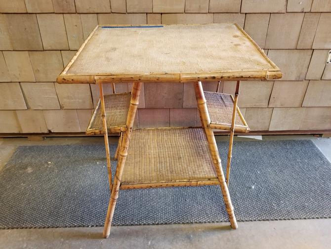 """Rad Vintage Tiki Table (24.5"""" W by 29.25"""" H by 20.5"""" D)"""