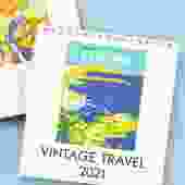 2021 Vintage Travel Desk Calendar
