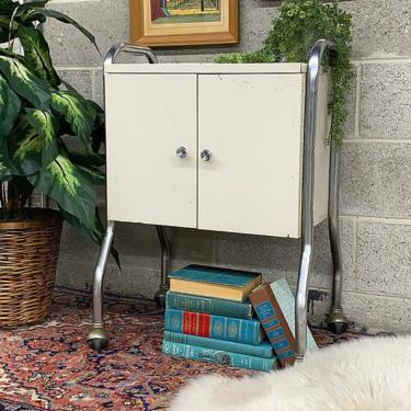 LOCAL PICKUP ONLY ———— Vintage Rolling Cabinet by RetrospectVintage215
