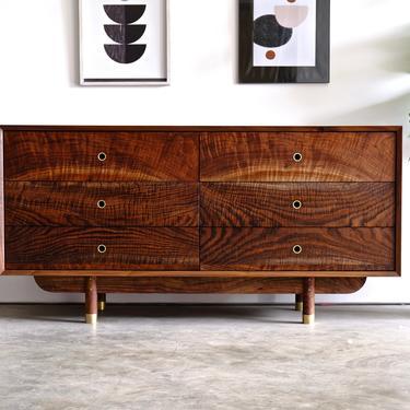 Mid Century Modern Dresser / Walnut Solid Wood Dresser / Hand Made 6 Drawer Dresser / Minimalist Dresser / Modern Walnut Dresser by BeautyBreadWoodshop