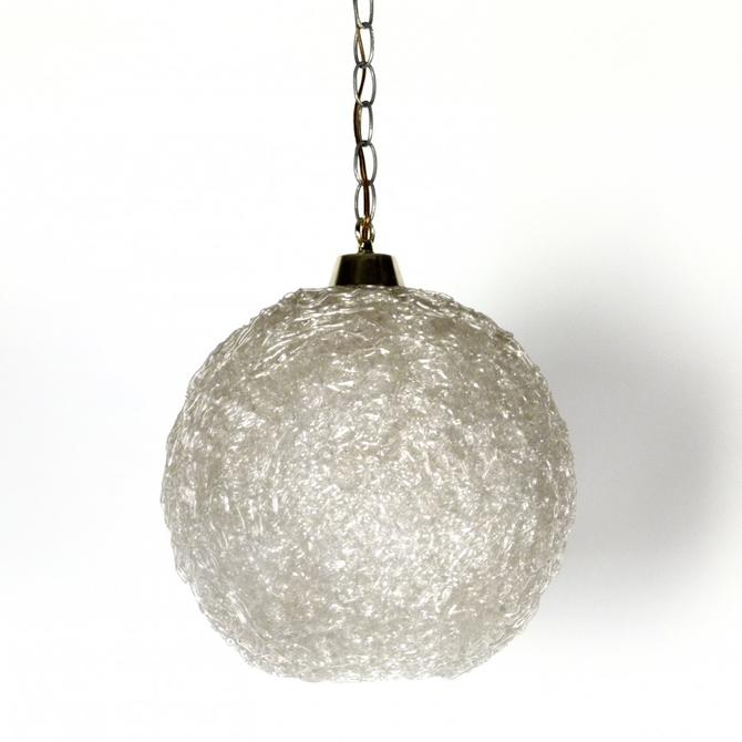 Spun Lucite Pendant Light