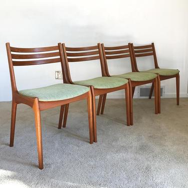 Danish modern (4) Kai Kristiansen Korup Stolefabrik teak chairs set of 4 by TripodModern
