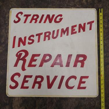 String Instrument Repair hand painted sign