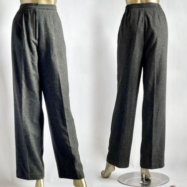 """Gray Wool High Waist Trousers 1980's Super High Rise 14"""" by BeggarsBanquet"""