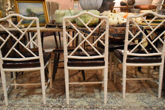 Faux-Bamboo Dining Chairs, Set of 6