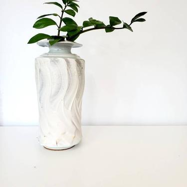 Vintage Studio Pottery Tall Textured Vase by pennyportland