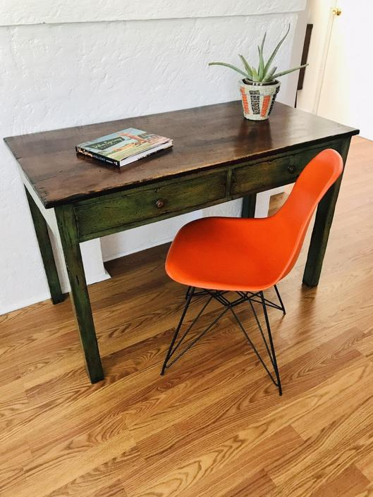 RUSTIC Green Desk (Los Angeles) by HouseCandyLA