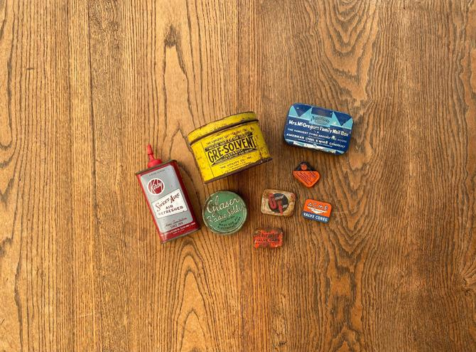 Vintage Rustic Garage and Automtove Tin Lot by NorthGroveAntiques