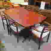 Vintage Danish modern Rosewood dining table set
