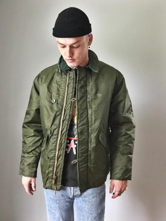fad51649c4e Vintage Mitary Alpha Industries Cold Weather Coat Insulated by ...