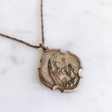 Confirmation Sacrament Italian Silver Pendant Necklace; Ricordo della Cresima by TheDistilleryVintage