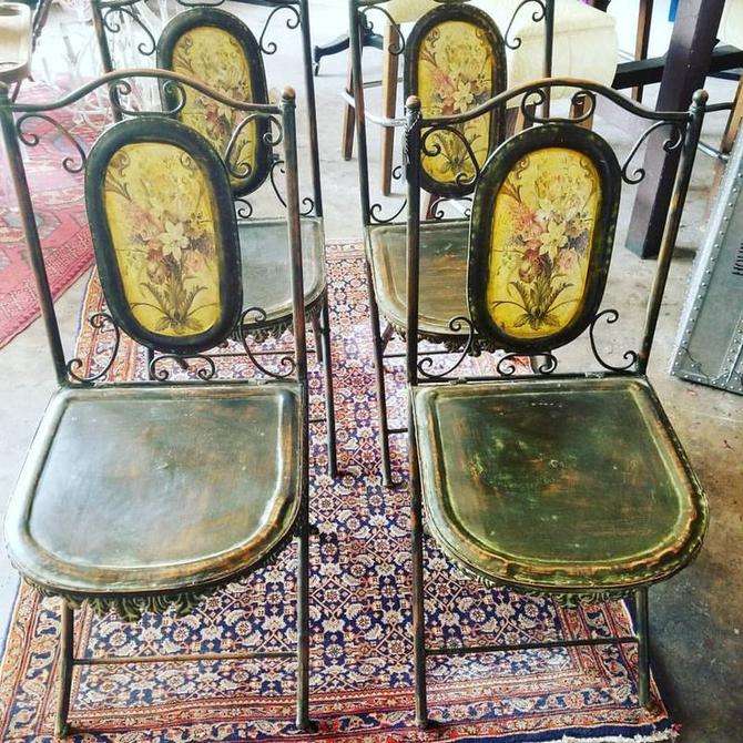 Set of 4 French campaign lawn chairs. $100 for the set.