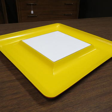 Vintage MCM Briard plastic square serving tray