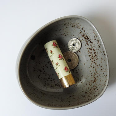 Speckled Porcelain Catchall Dish / Speckled Ceramic Jewelry Bowl Trinket Dish by blackwellhabitat