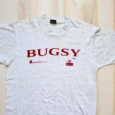 Vintage 90s Movie Promo T Shirt, 1990s Tee, Bugsy, Mob, Gangster, Crime Film, Rare, Single Stitch, Screen Stars by WildwoodVintage