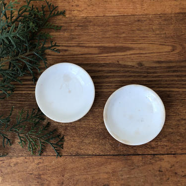 Set of Two Antique Butter Pats by AnticaMarket