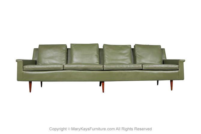 Mid Century Milo Baughman Thayer Coggin Style Long Sofa by Marykaysfurniture